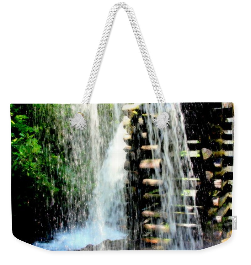 Mingus Mill Weekender Tote Bag featuring the photograph Mountain Waters by Karen Wiles