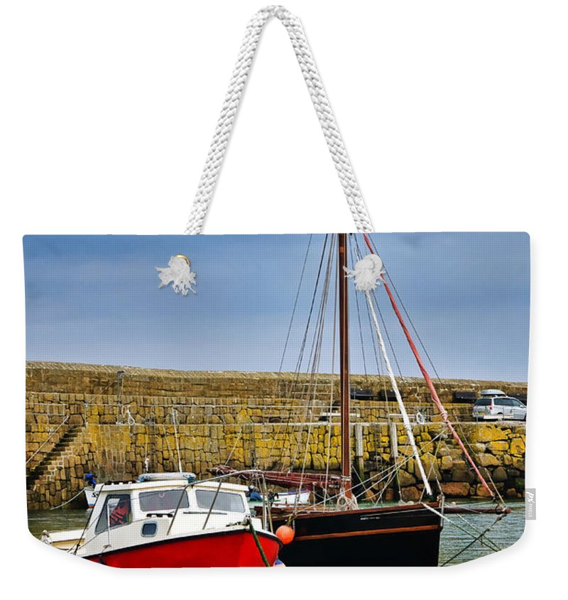 Mousehole Weekender Tote Bag featuring the photograph Mousehole Harbour Evening 2 by Susie Peek