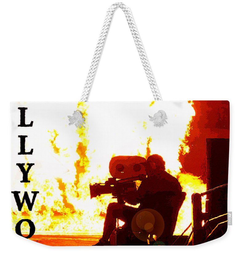 Poster Artwork Weekender Tote Bag featuring the painting Movie Capital Poster Work 3 by David Lee Thompson