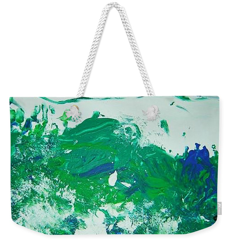 Impetus Weekender Tote Bag featuring the mixed media Moving Forward IIi by Luz Elena Aponte