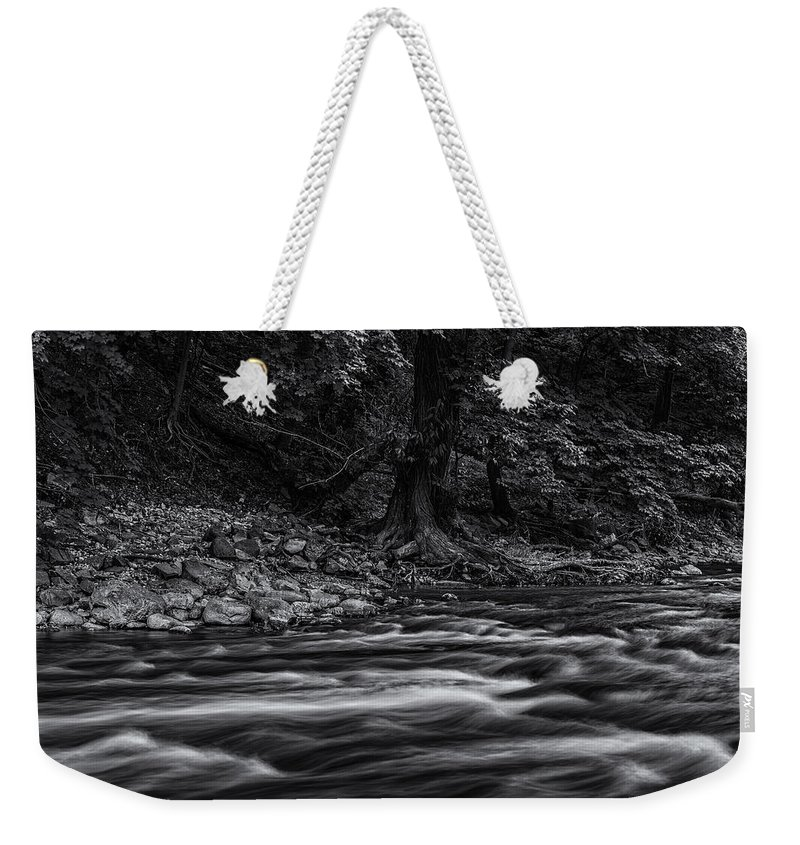 Www.cjschmit.com Weekender Tote Bag featuring the photograph Moving Still by CJ Schmit