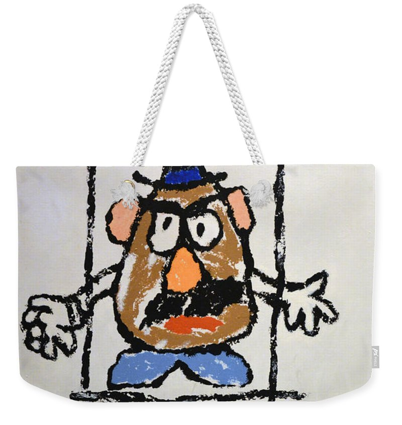 Bad Potato Weekender Tote Bag featuring the photograph Mr. Potato Head Gone Bad by Robert Meanor