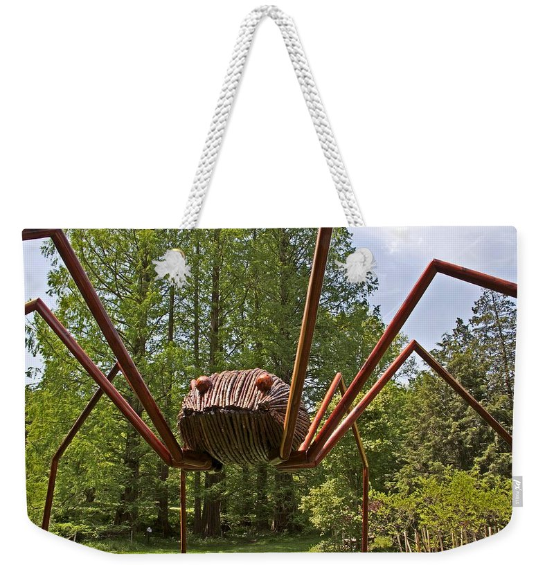 Spider Weekender Tote Bag featuring the photograph Mr. Spider by Alice Gipson