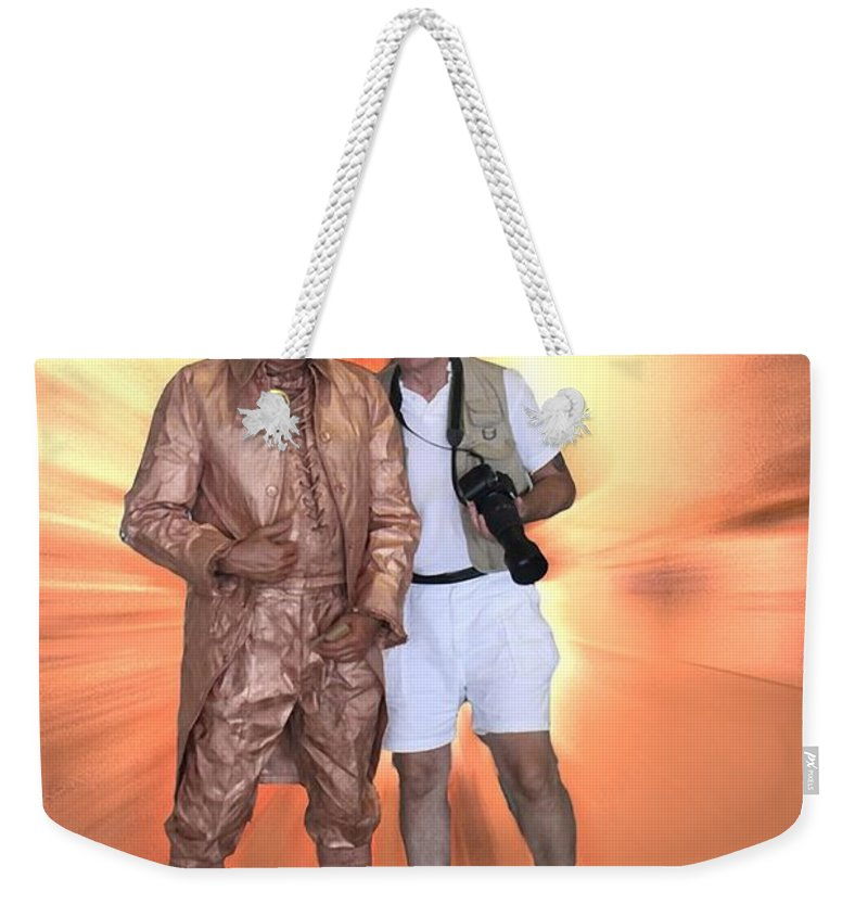 Tom Woolworth Weekender Tote Bag featuring the photograph Mr Statue by Thomas Woolworth