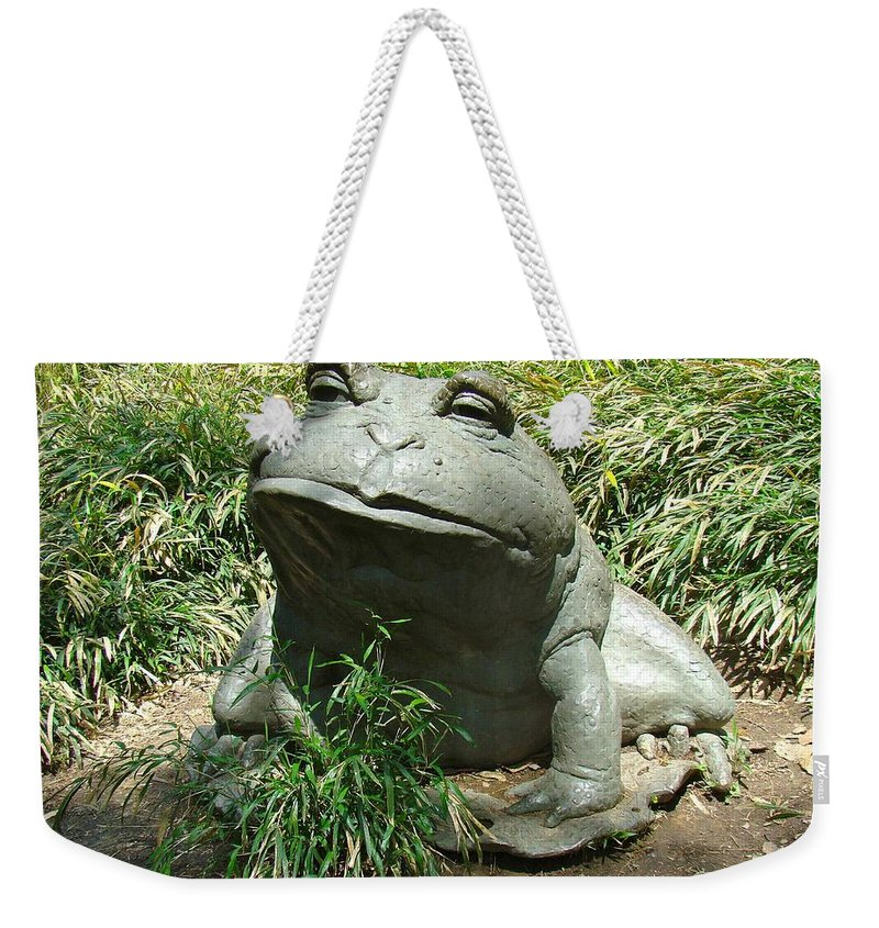Toad Weekender Tote Bag featuring the photograph Mr. Toad by Alice Gipson