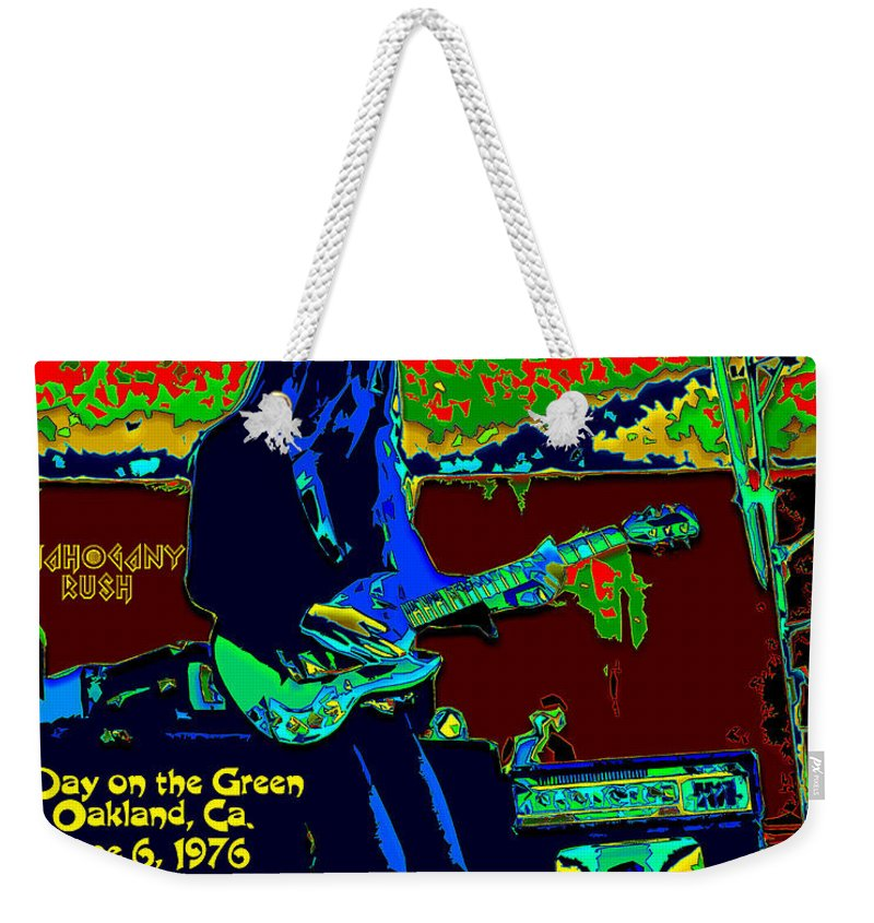 Frank Marino Weekender Tote Bag featuring the photograph Mrdog # 71 Psychedelically Enhanced W/text by Ben Upham