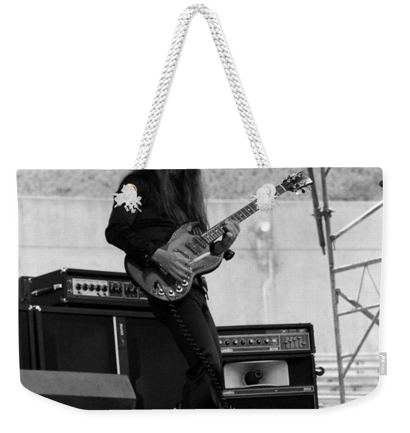 Frank Marino Weekender Tote Bag featuring the photograph Mrdog #21 by Ben Upham