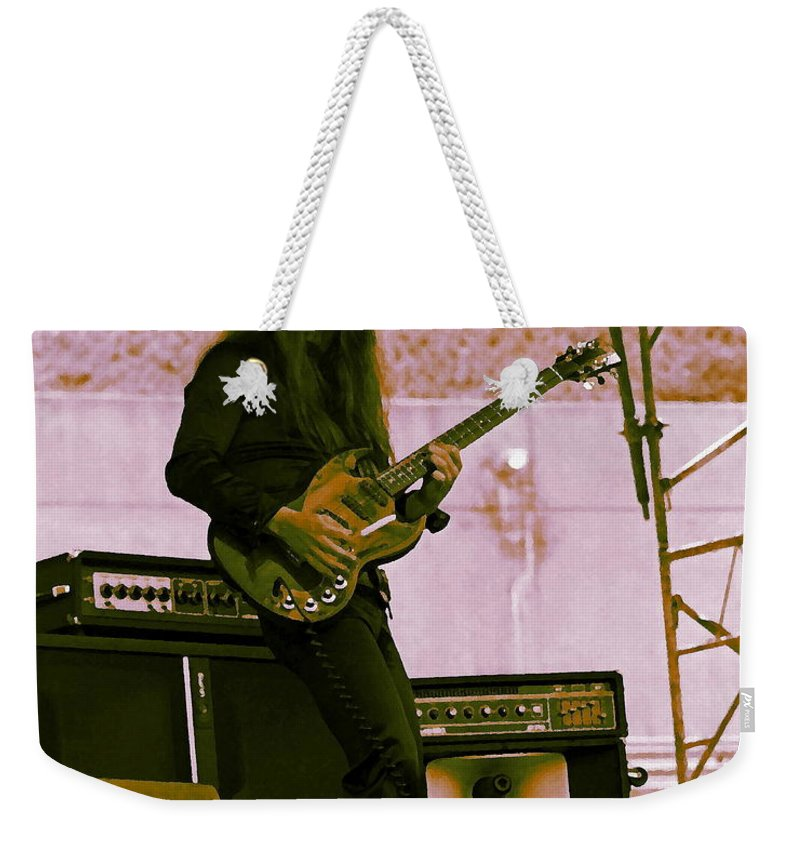Frank Marino Weekender Tote Bag featuring the photograph Mrdog #21 With Enhanced Colors by Ben Upham