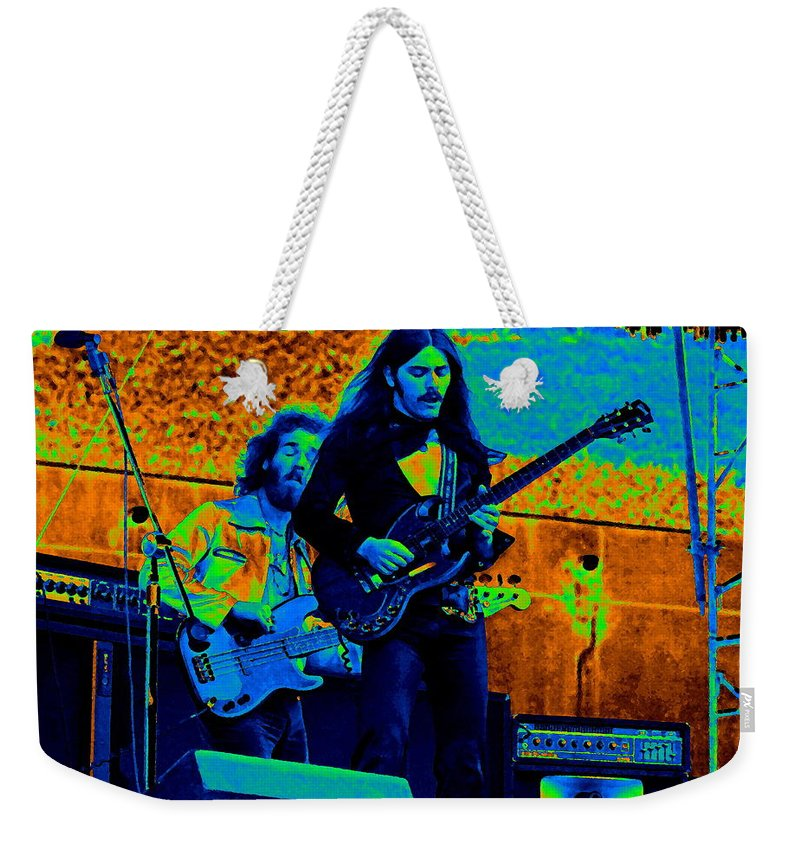 Frank Marino Weekender Tote Bag featuring the photograph Mrdog #23 In Cosmicolors by Ben Upham