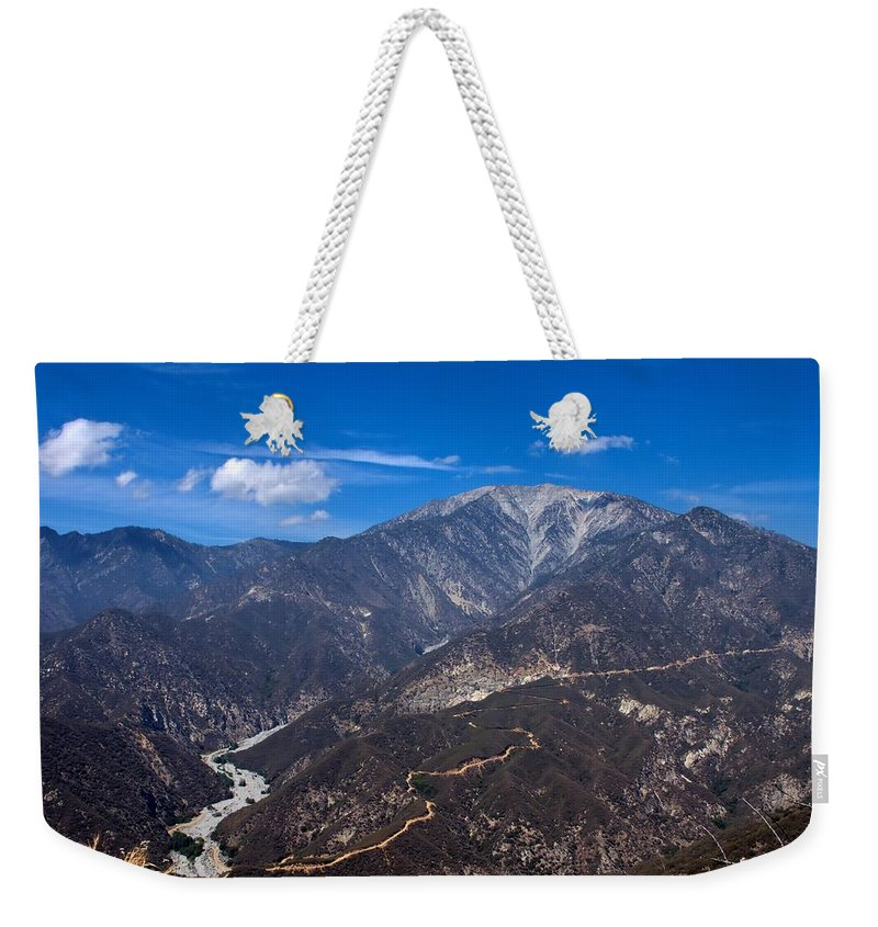 Mt Baldy Weekender Tote Bag featuring the photograph Mt. Baldy by Michelle Joseph-Long