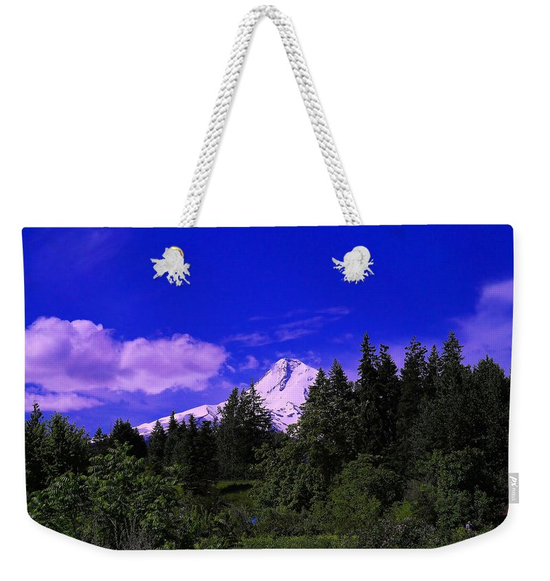 Mountains Weekender Tote Bag featuring the photograph Mt Hood by Jeff Swan