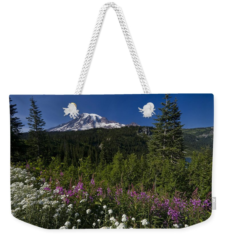 3scape Weekender Tote Bag featuring the photograph Mt. Rainier by Adam Romanowicz
