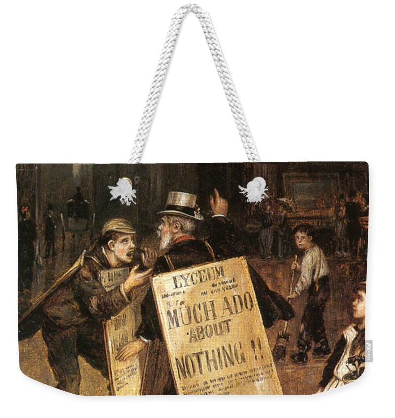 Augustus Edwin Mulready Weekender Tote Bag featuring the digital art Much Ado About Nothing by Augustus Edwin Mulready