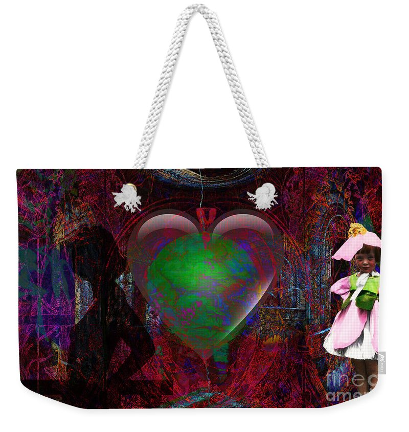 Love Weekender Tote Bag featuring the digital art Mucha Love by Joseph Mosley