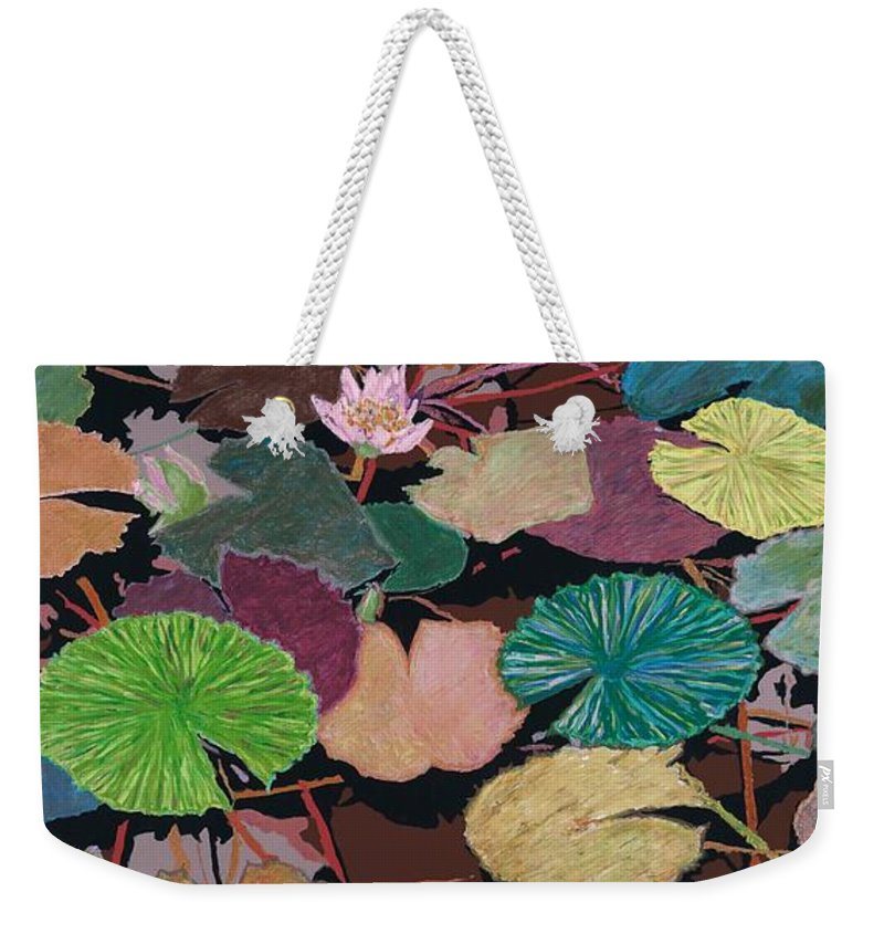 Landscape Weekender Tote Bag featuring the painting Muddy Waters by Allan P Friedlander