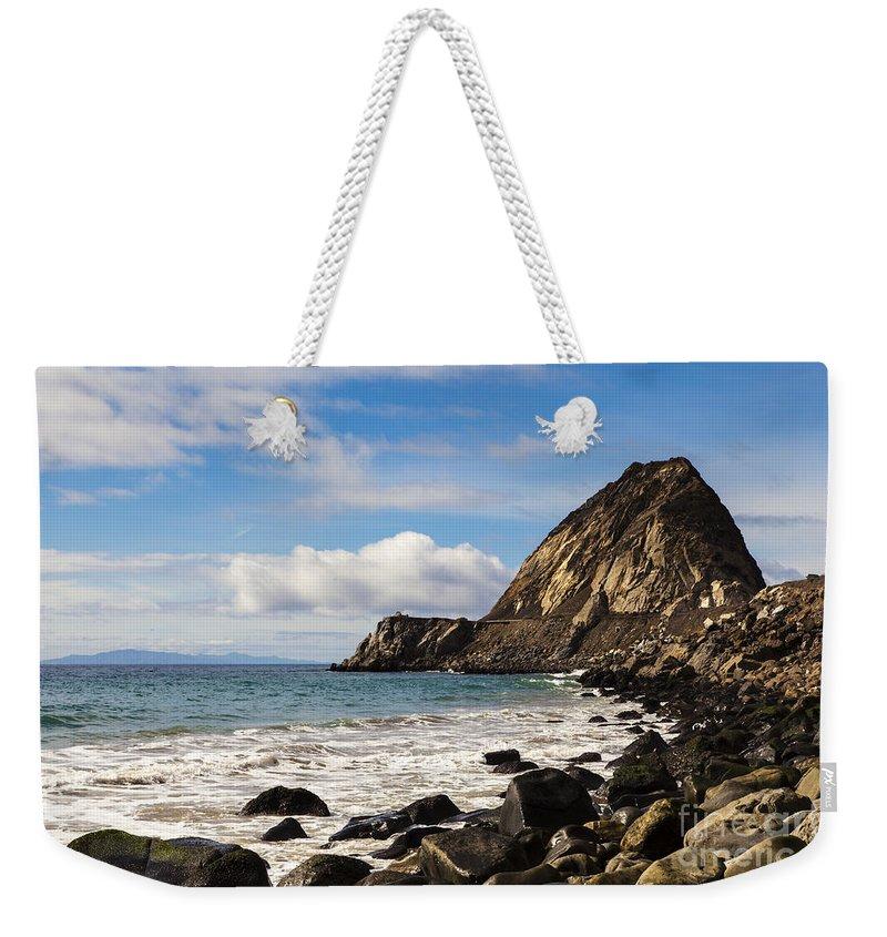 Ocean Weekender Tote Bag featuring the photograph Mugu Rock by David Millenheft