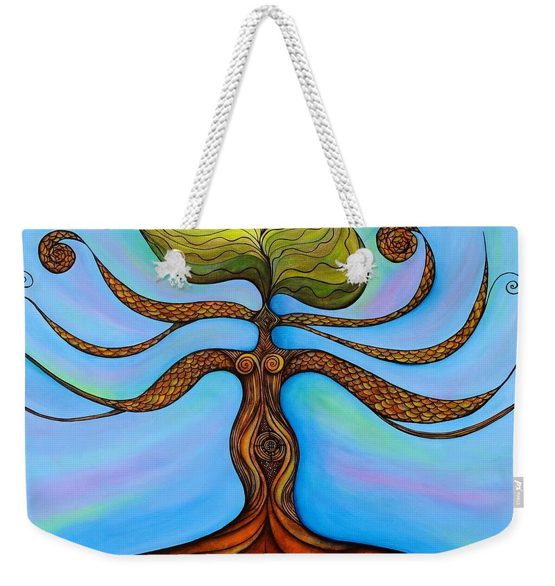 Chakra Paintings Weekender Tote Bag featuring the painting Muladhara by Deborha Kerr
