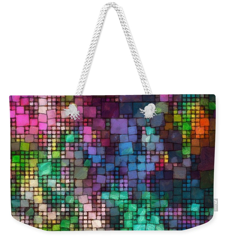 Multitude Weekender Tote Bag featuring the digital art Multitude-01 by RochVanh