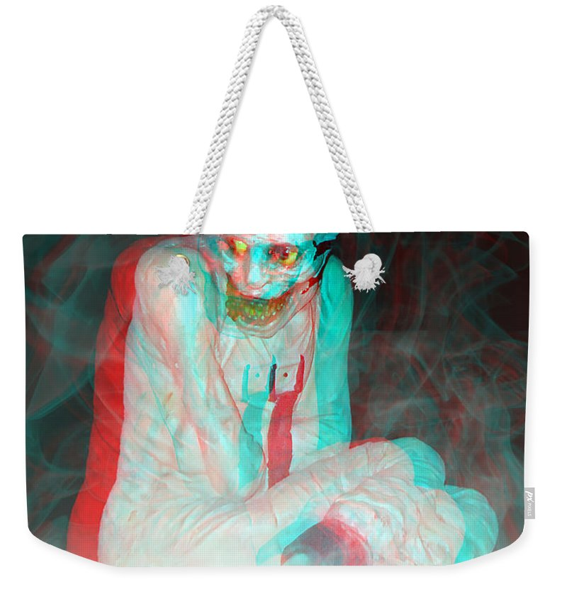 3d Weekender Tote Bag featuring the photograph Mummy Dearest - Use Red-cyan Filtered 3d Glasses by Brian Wallace