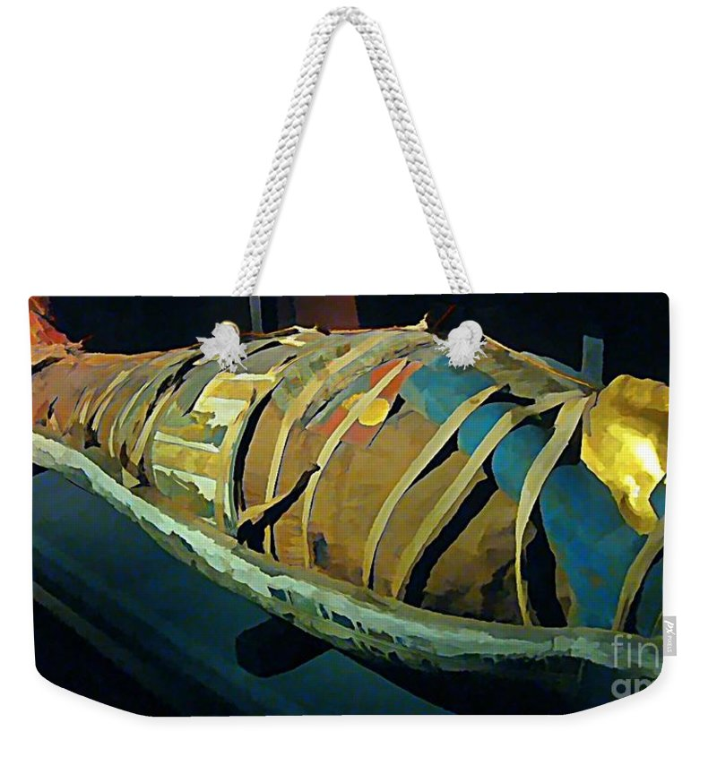 Mums The Word Weekender Tote Bag featuring the painting Mums The Word by John Malone Halifax artist