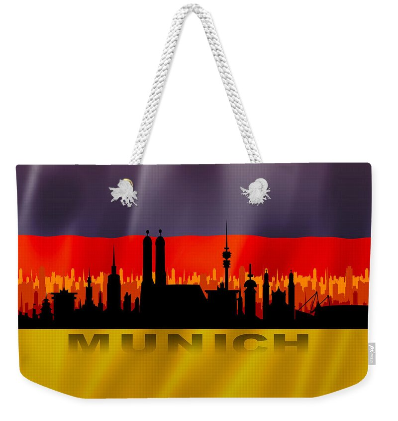 Architecture Weekender Tote Bag featuring the digital art Munich City by Don Kuing