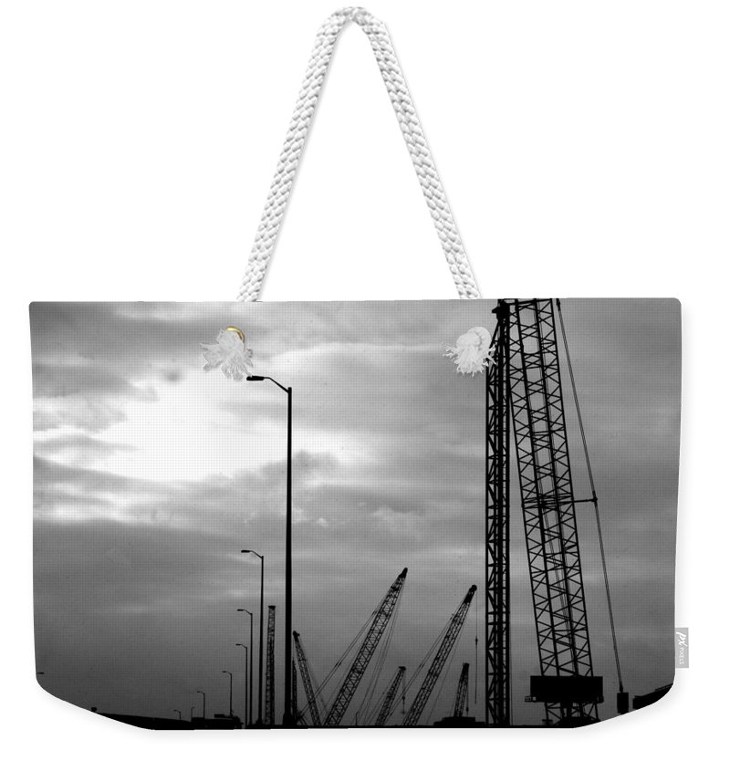 Construction Weekender Tote Bag featuring the photograph Municipal Construction by Jamie Lynn