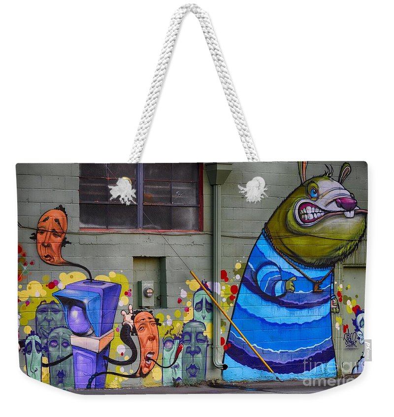 Mural - Wall Art Weekender Tote Bag featuring the photograph Mural - Wall Art by Liane Wright