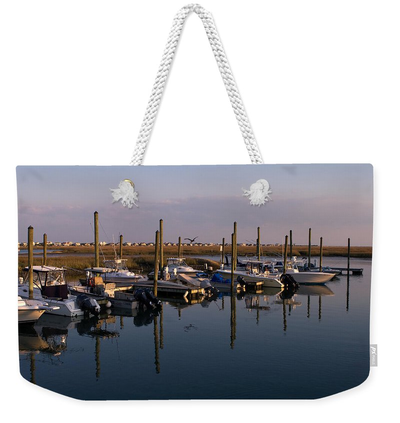 Murrels Inlet Weekender Tote Bag featuring the photograph Murrels Inlet South Carolina by Stephanie McDowell