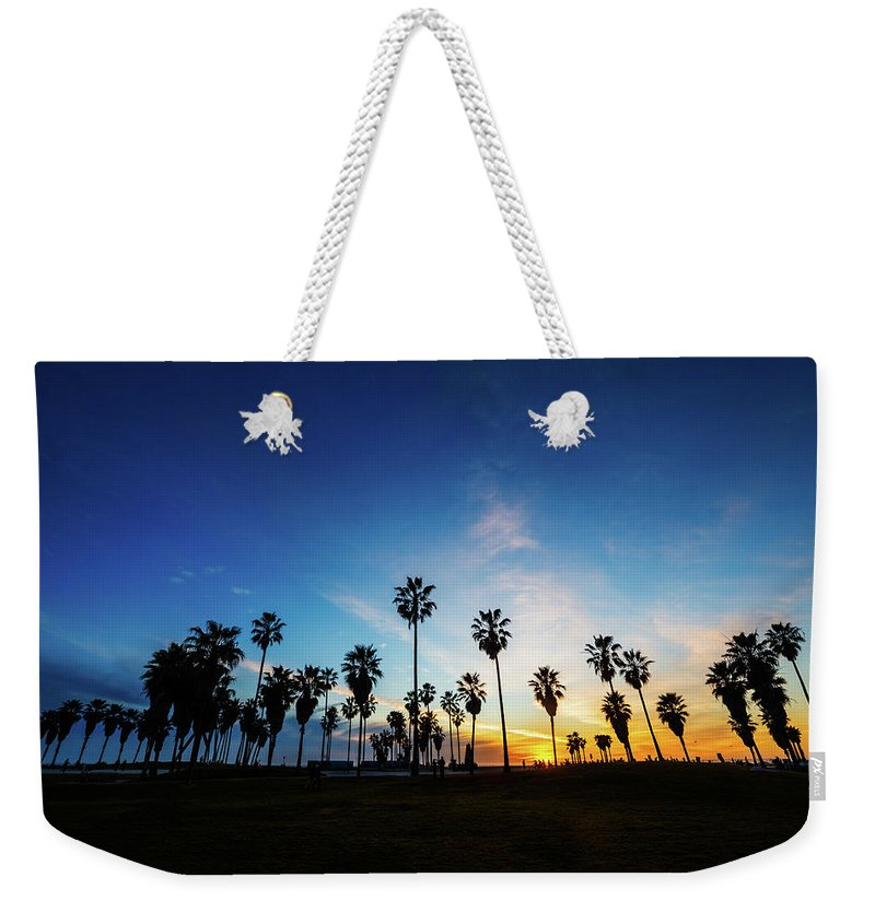 Shadow Weekender Tote Bag featuring the photograph Muscle Beach At Dusk by Extreme-photographer