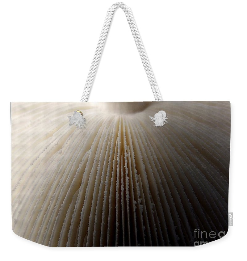 Mushrooms Weekender Tote Bag featuring the photograph Mushroom With Watercolor Effect 4 by Rose Santuci-Sofranko