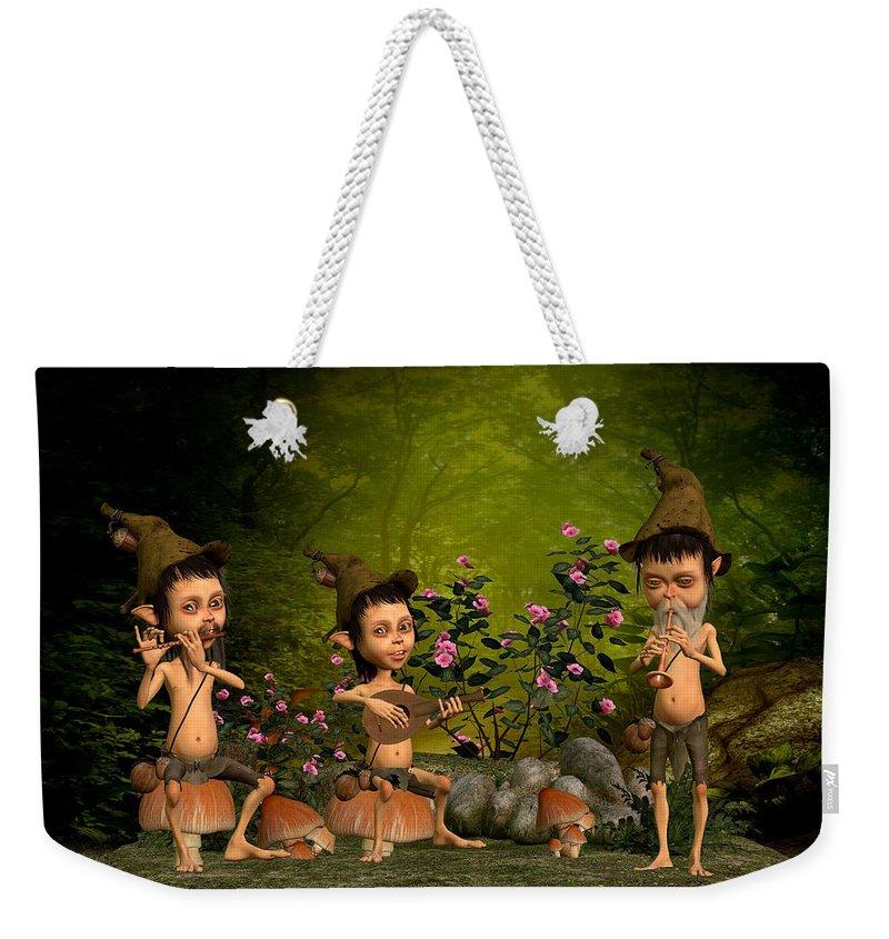 Fairy Paintings Weekender Tote Bag featuring the digital art Music In The Forest by John Junek