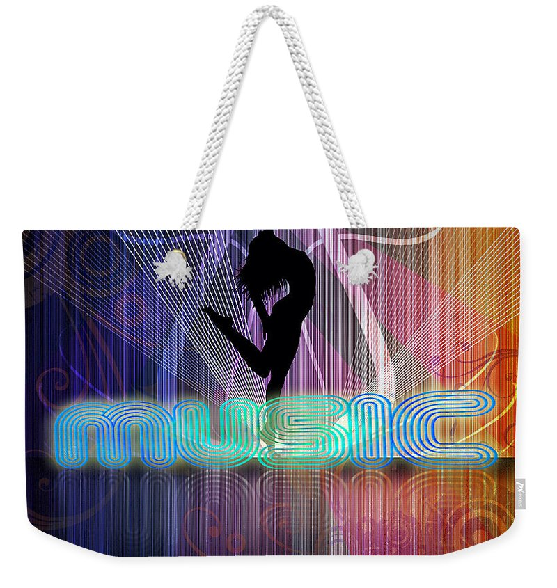 Music Background Party Fun Black Dance People Night Concert Abstract Woman Sound Illustration Design Light Disco Club Vector Girl Event Web Festival Beauty White Audience Business Rock Technology Crowd Audio Background Techno Light Abstract Blue Illustration Party Design Technology Dance Digital Backdrop Web Club Disco Wallpaper Graphic Music Art Texture Futuristic Pattern Artistic Concert Discotheque Space Motion Line Concept Element Weekender Tote Bag featuring the digital art Music by John Swartz