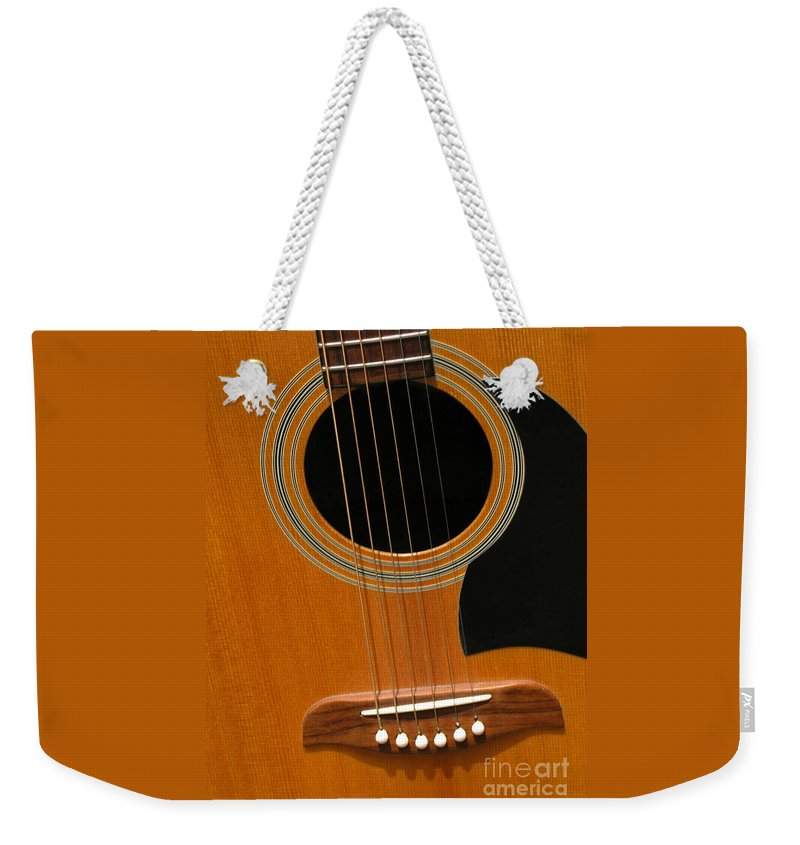 Guitar Weekender Tote Bag featuring the photograph Musical Abstraction by Ann Horn