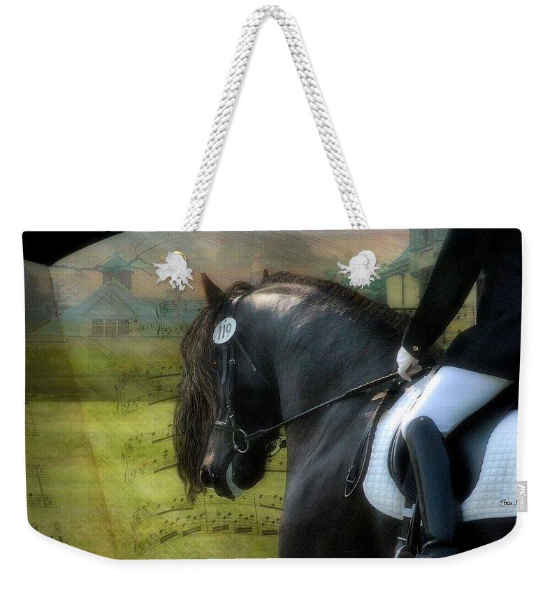 Friesian Horses Weekender Tote Bag featuring the digital art Musical Freestyle by Fran J Scott