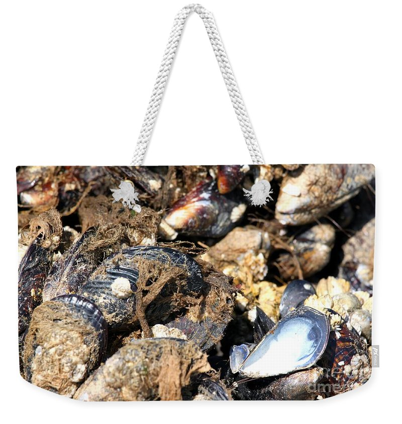 Nature Weekender Tote Bag featuring the photograph Mussels by Henrik Lehnerer