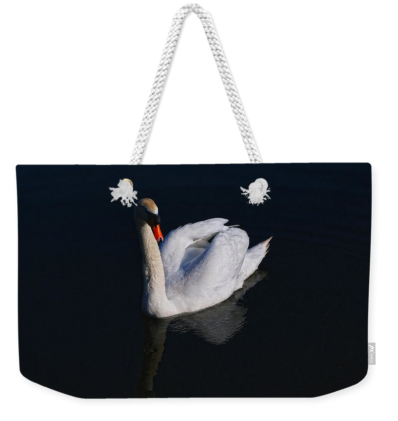Swan Weekender Tote Bag featuring the photograph Mute Swan by Scott Carruthers