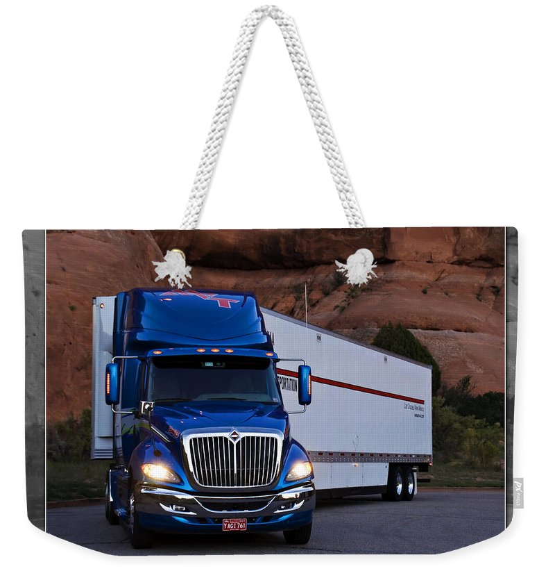 Truck Weekender Tote Bag featuring the photograph Mvt #12 by Walter Herrit