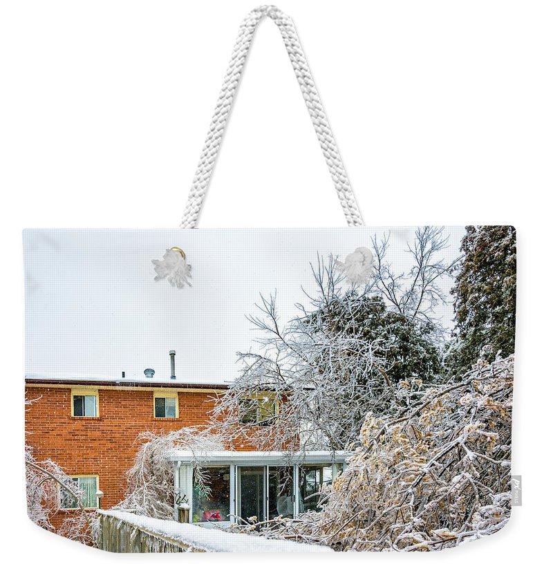 Steve Harrington Weekender Tote Bag featuring the photograph My Backyard by Steve Harrington