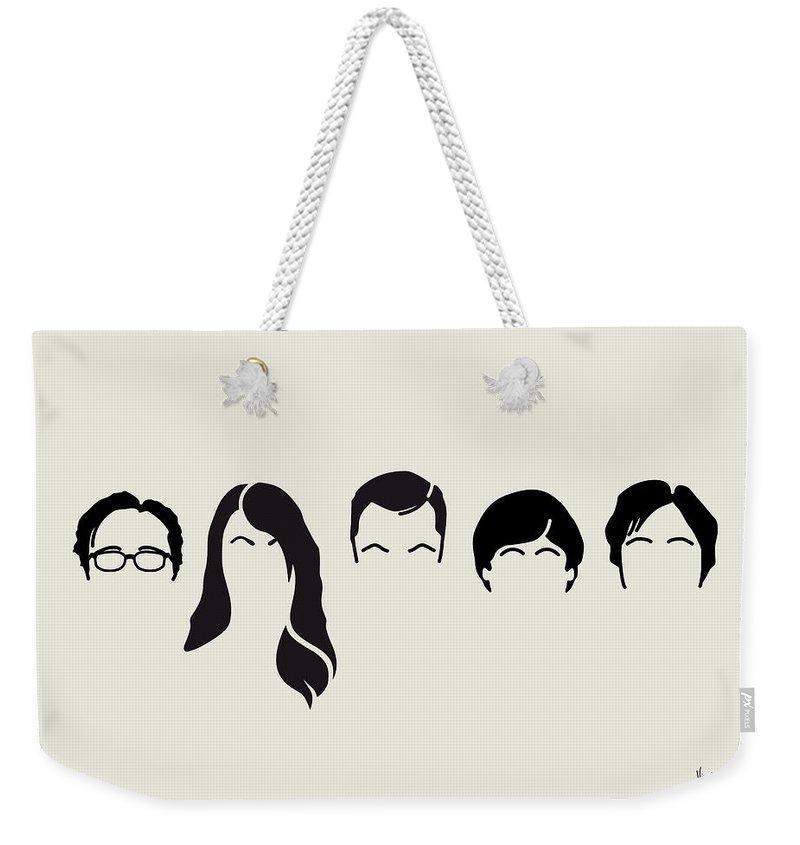 Big Weekender Tote Bag featuring the digital art My-big-bang-hair-theory by Chungkong Art