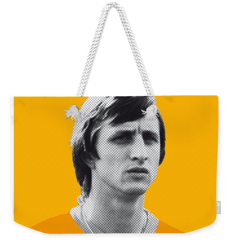 Beckenbauer Weekender Tote Bag featuring the digital art My Cruijff Soccer Legend Poster by Chungkong Art