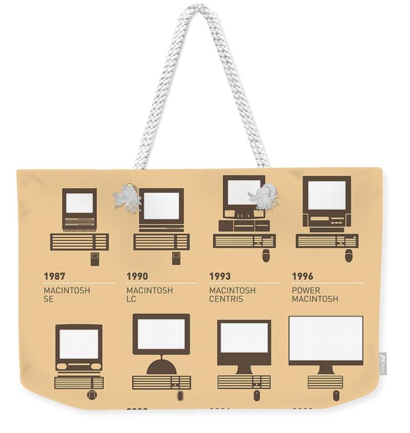 Minimal Weekender Tote Bag featuring the digital art My Evolution Apple Mac Minimal Poster by Chungkong Art