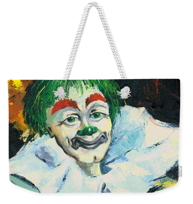 Canvas Prints Weekender Tote Bag featuring the painting My Friend by Elisabeta Hermann