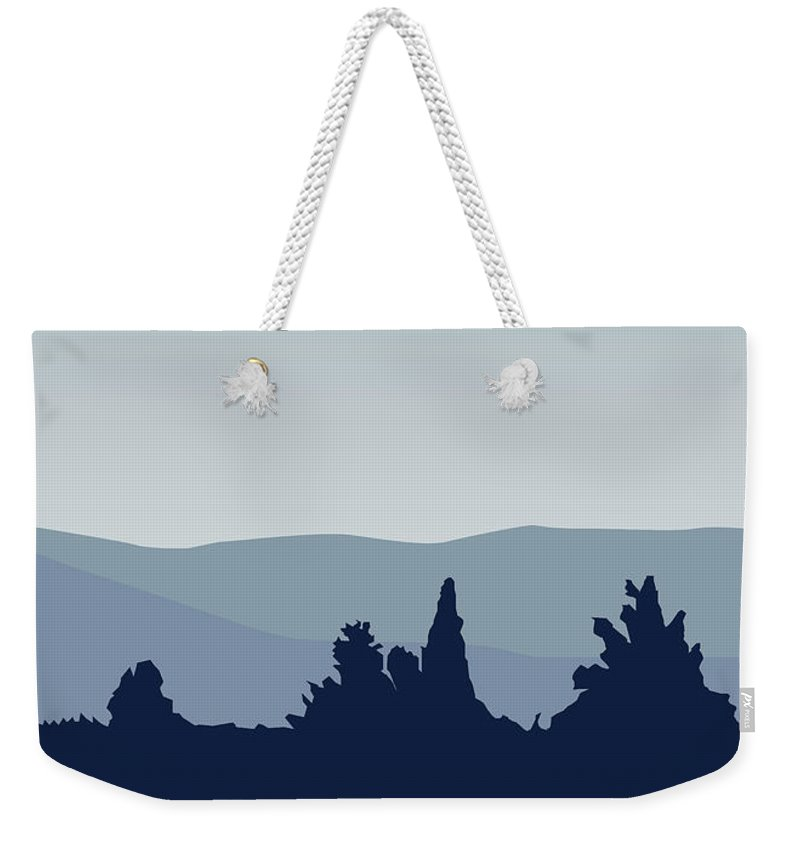 Classic Weekender Tote Bag featuring the digital art My I Want To Believe Minimal Poster-millennium Falcon by Chungkong Art
