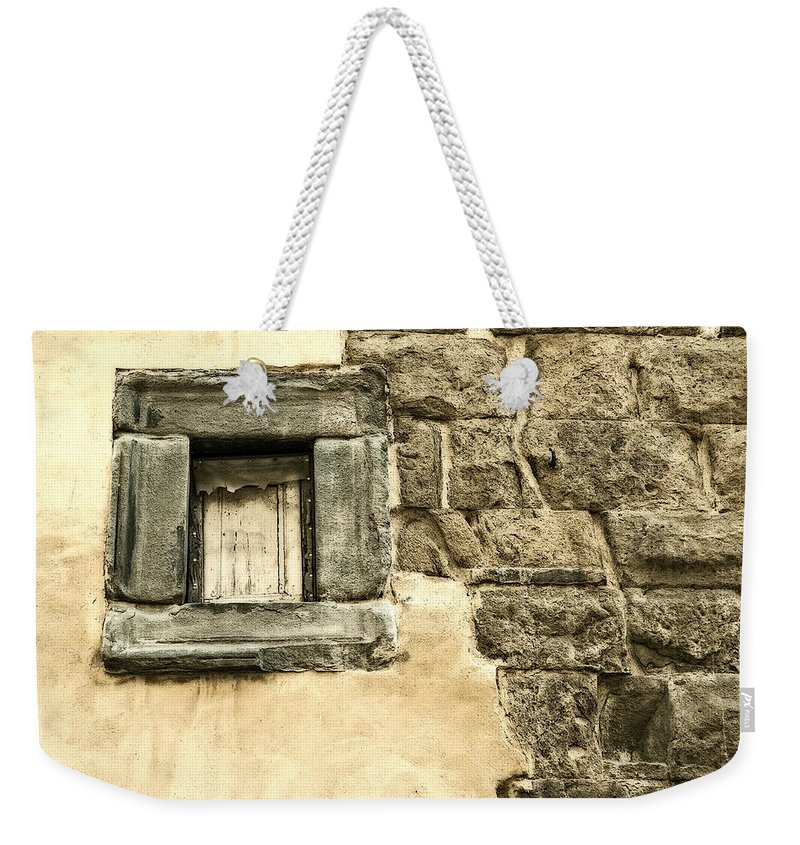 Italy Weekender Tote Bag featuring the photograph My Little Window by George Buxbaum