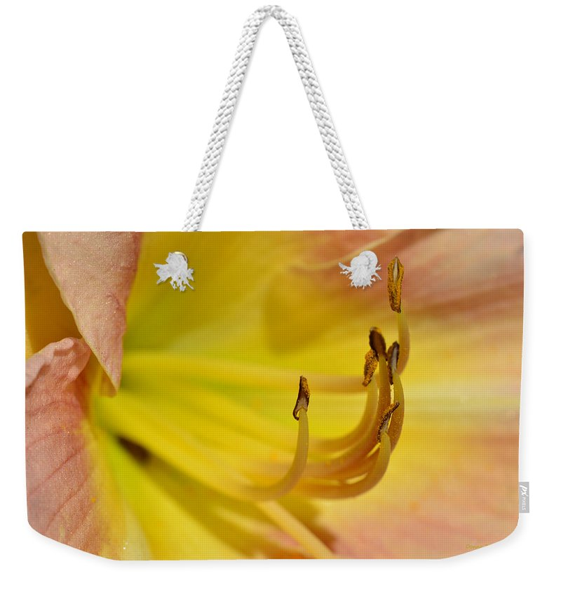 Lily Weekender Tote Bag featuring the photograph My Name Is Lily by Donna Blackhall