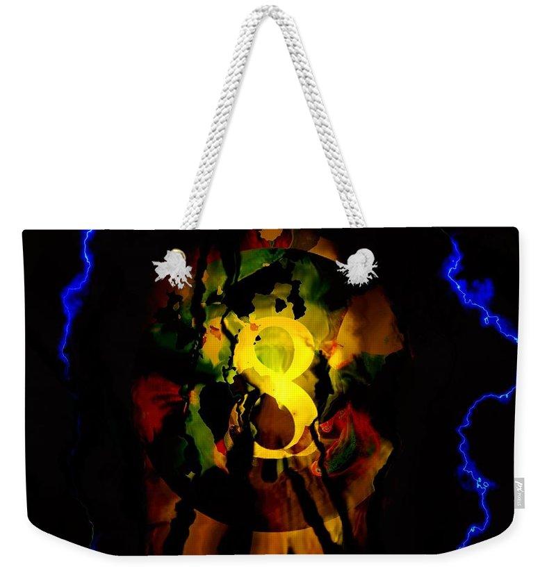 Fractal Art Weekender Tote Bag featuring the digital art My Reply Is No by Elizabeth McTaggart