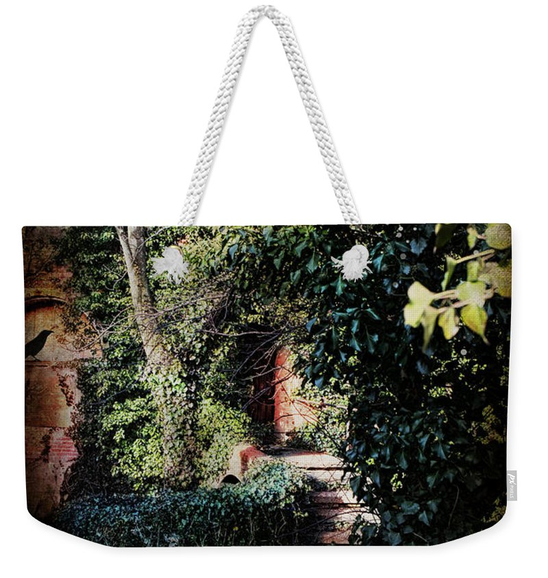 Evie Carrier Weekender Tote Bag featuring the photograph My Secret Garden by Evie Carrier