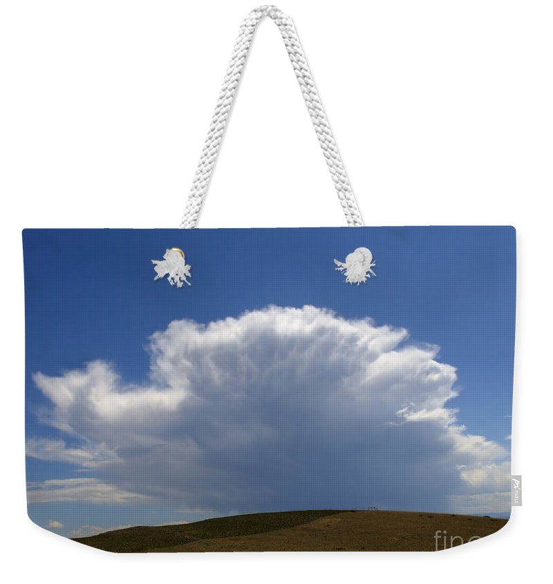 Clouds Weekender Tote Bag featuring the photograph My Sky View - 2 by Kae Cheatham