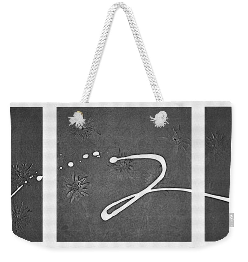 Abstract Weekender Tote Bag featuring the painting My Song by Kume Bryant