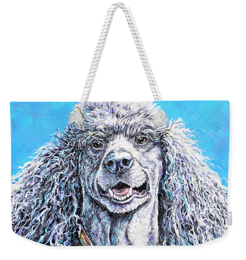 Dog Weekender Tote Bag featuring the painting My Standard Of Excellence by Gail Butler
